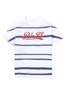 Ralph Lauren Childrenswear Boy's Tie-Dye Striped Cotton Tee