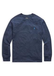 Ralph Lauren Childrenswear Boy's V-Neck Cotton Jersey Tee