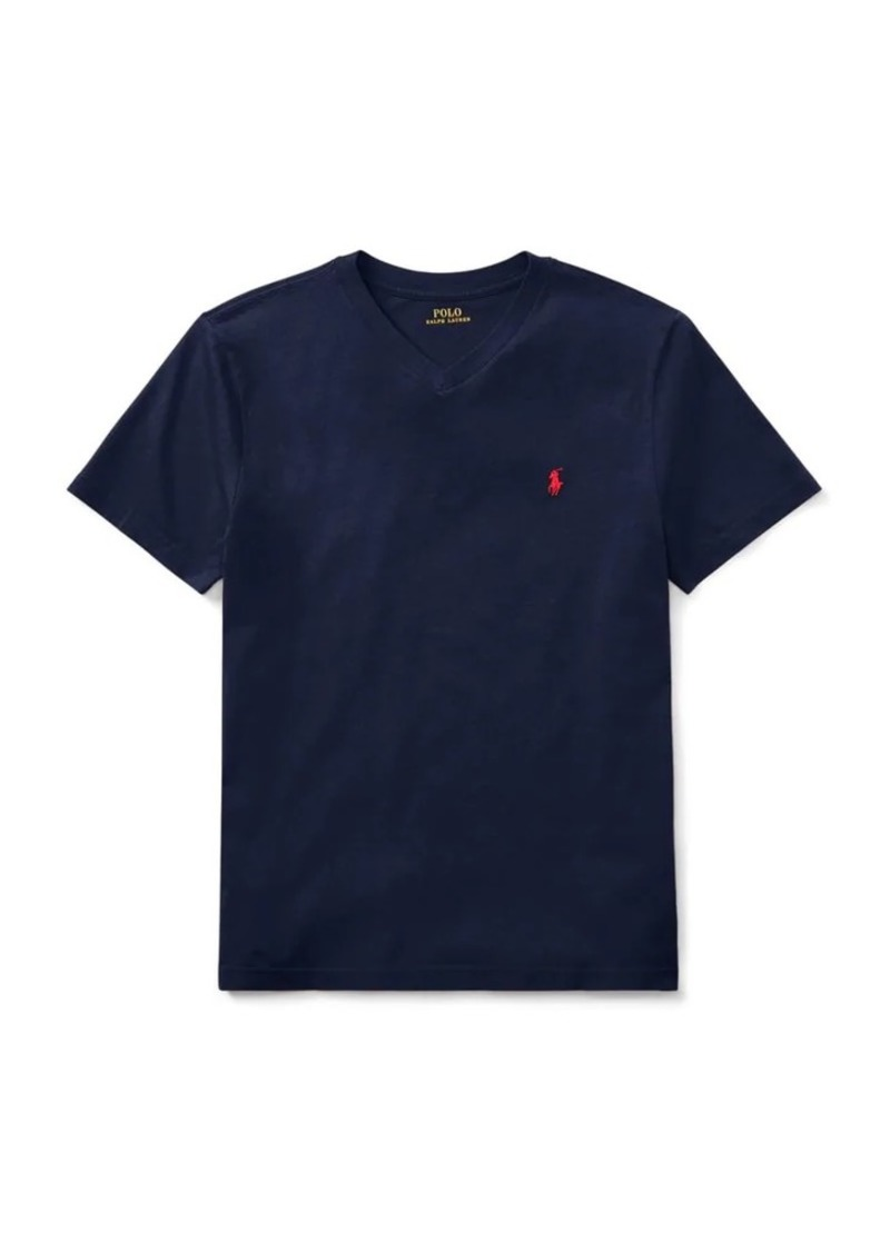 Ralph Lauren Childrenswear Boy's Cotton Jersey V-Neck T-Shirt