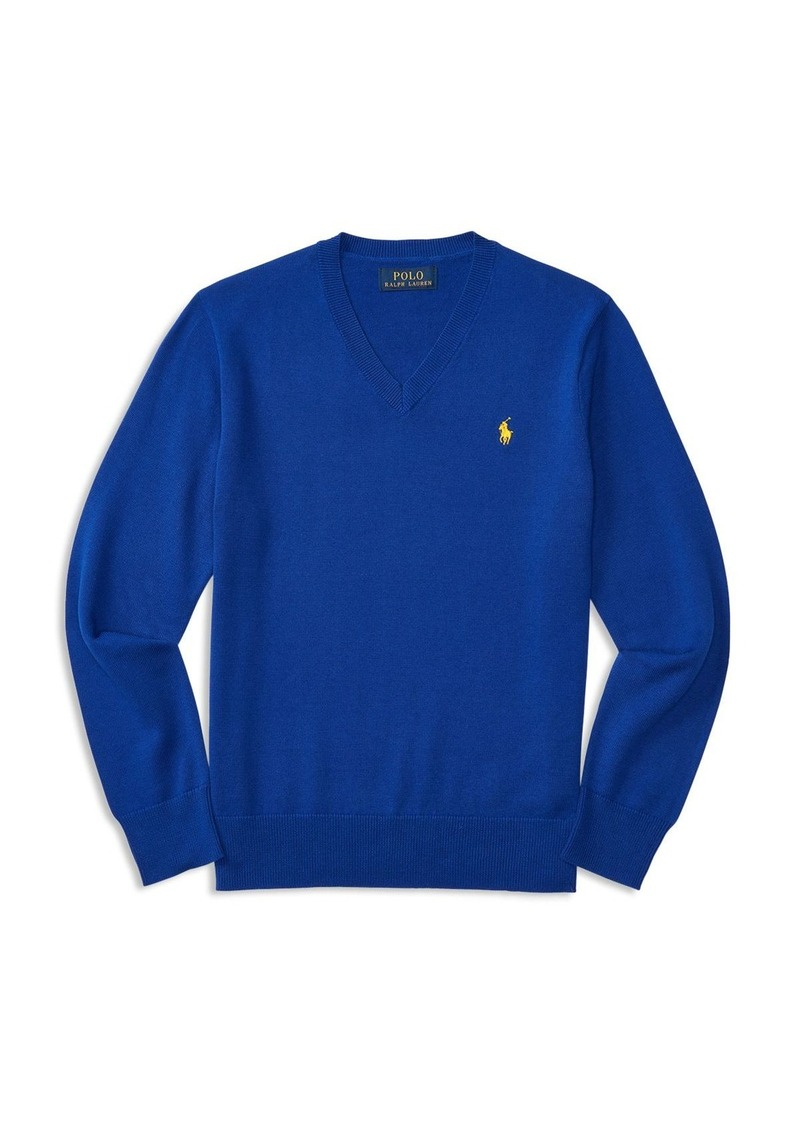 Ralph Lauren Childrenswear Boys' V Neck Pullover - Big Kid