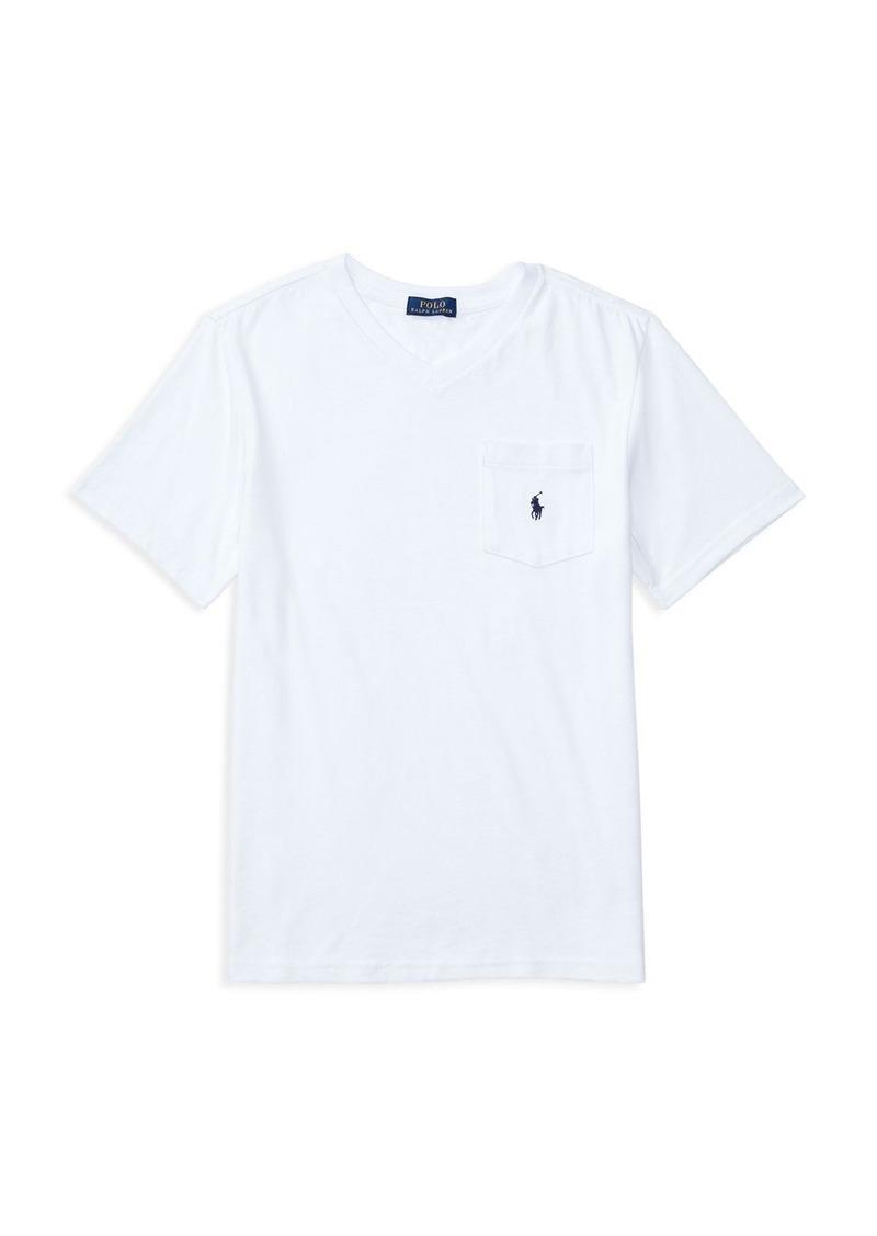 Ralph Lauren Childrenswear Boys' V Neck Tee - Sizes S-XL