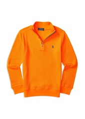 Ralph Lauren Childrenswear Boys' Waffle Half Zip Pullover - Big Kid