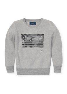 Ralph Lauren Childrenswear Camo American Flag Knit Sweater  Size 2-4