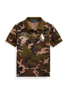 Ralph Lauren Childrenswear Camo Mesh Polo Shirt w/ Logo Embroidery  Size 2-4