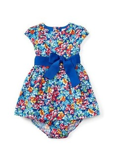 Ralph Lauren Childrenswear Cap-Sleeve Floral Fit-and-Flare Dress w/ Bloomers