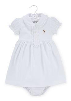 Ralph Lauren Cap-Sleeve Pima Polo Dress w/ Bloomers  Size 9-24 Months