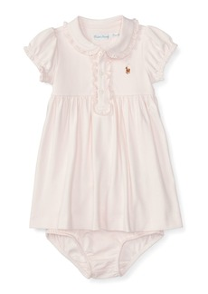 Ralph Lauren Childrenswear Cap-Sleeve Pima Polo Dress w/ Bloomers  Size 9-24 Months
