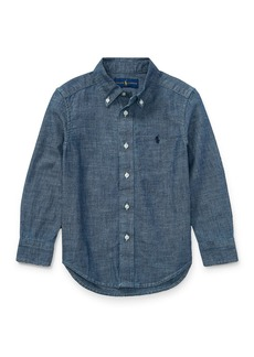 Ralph Lauren Childrenswear Chambray Long-Sleeve Button-Down Shirt