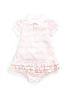 Ralph Lauren Childrenswear Collared Short-Sleeve Ruffle Dress w/ Bloomers  Size 6-24 Months