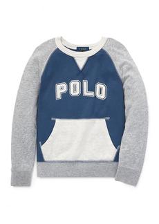 Ralph Lauren Childrenswear Colorblock Knit Logo Top  Size 5-7