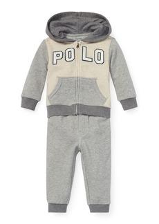Ralph Lauren Childrenswear Colorblock Zip-Up Jacket w/ Matching Sweatpants  Size 6-24 Months
