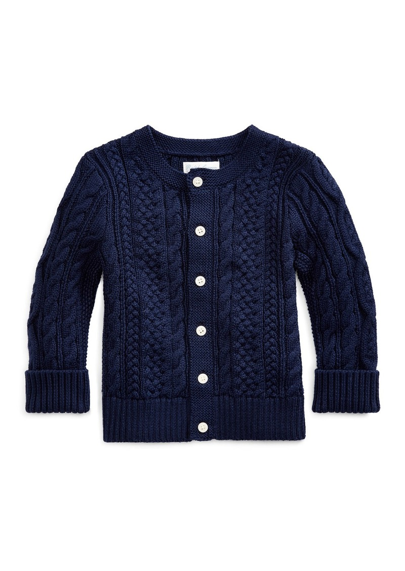 Ralph Lauren Childrenswear Cotton Cable-Knit Cardigan  6-24 Months