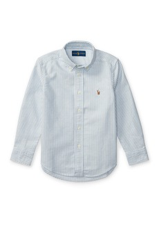 Ralph Lauren Childrenswear Cotton Oxford Stripe Sport Shirt  Size 4-7