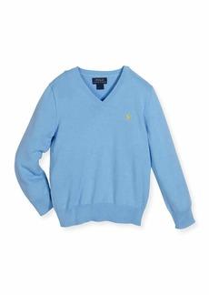 Ralph Lauren Childrenswear Cotton V-Neck Pullover Sweater