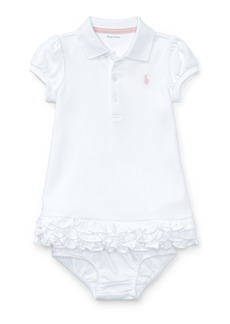Ralph Lauren Childrenswear Cupcake Ruffle Hem Polo Dress w/ Bloomers  Size 6-18 Months