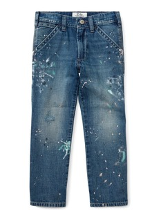 Ralph Lauren Childrenswear Denim Hampton Fit Jeans w/ Paint Splatter
