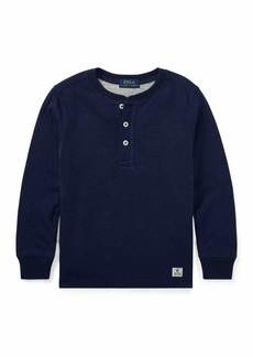 Ralph Lauren Childrenswear Duo-Fold Henley Knit Shirt