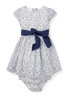 Ralph Lauren Childrenswear Fit-and-Flare Woven Floral Dress w/ Bloomers  Size 6-24 Months