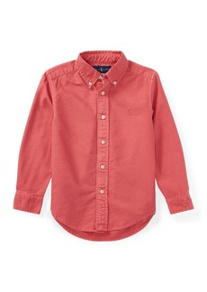 Ralph Lauren Childrenswear Garment-Dye Oxford Button-Down Shirt