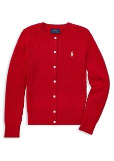 Ralph Lauren Childrenswear Girl's Cable-Knit Cardigan