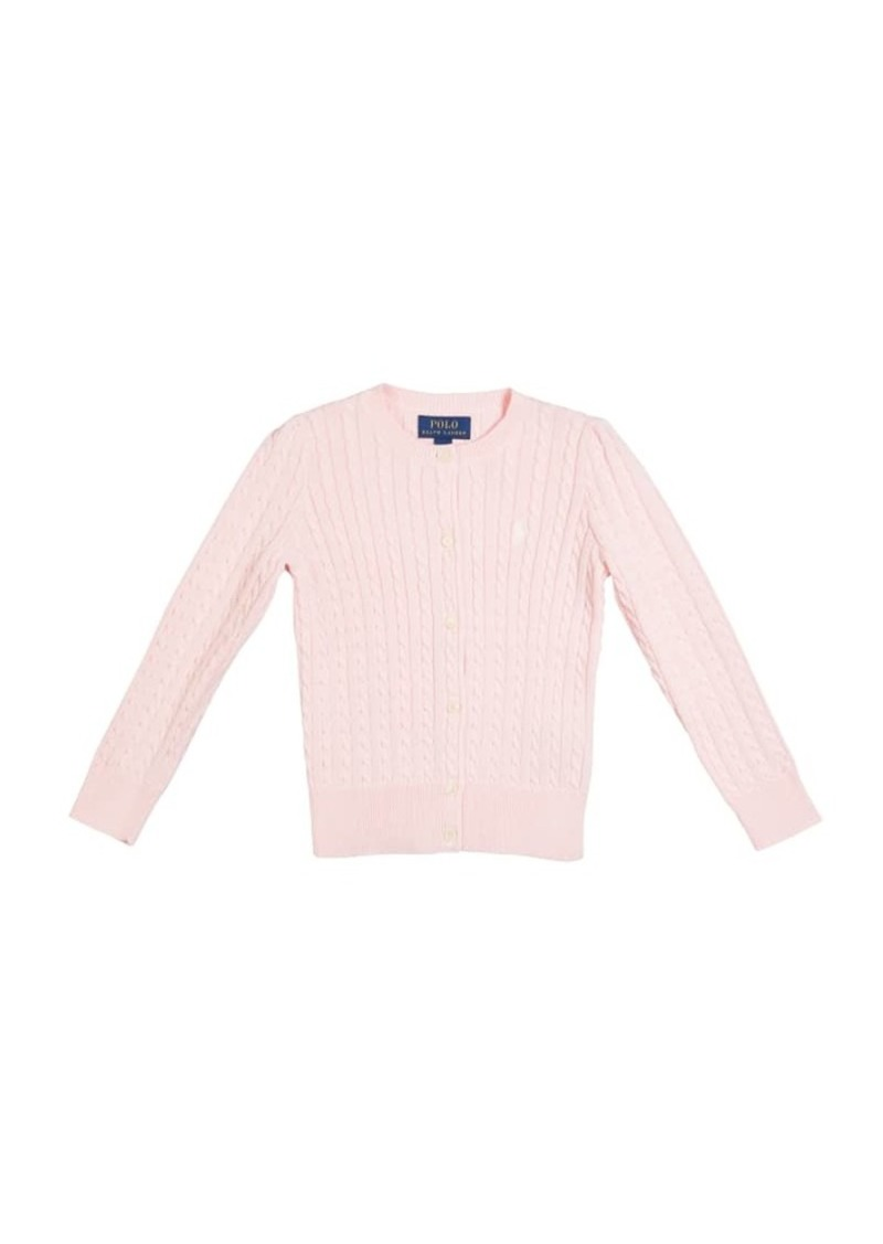 Ralph Lauren Childrenswear Girl's Cable-Knit Ribbed Cardigan  Size 2-4