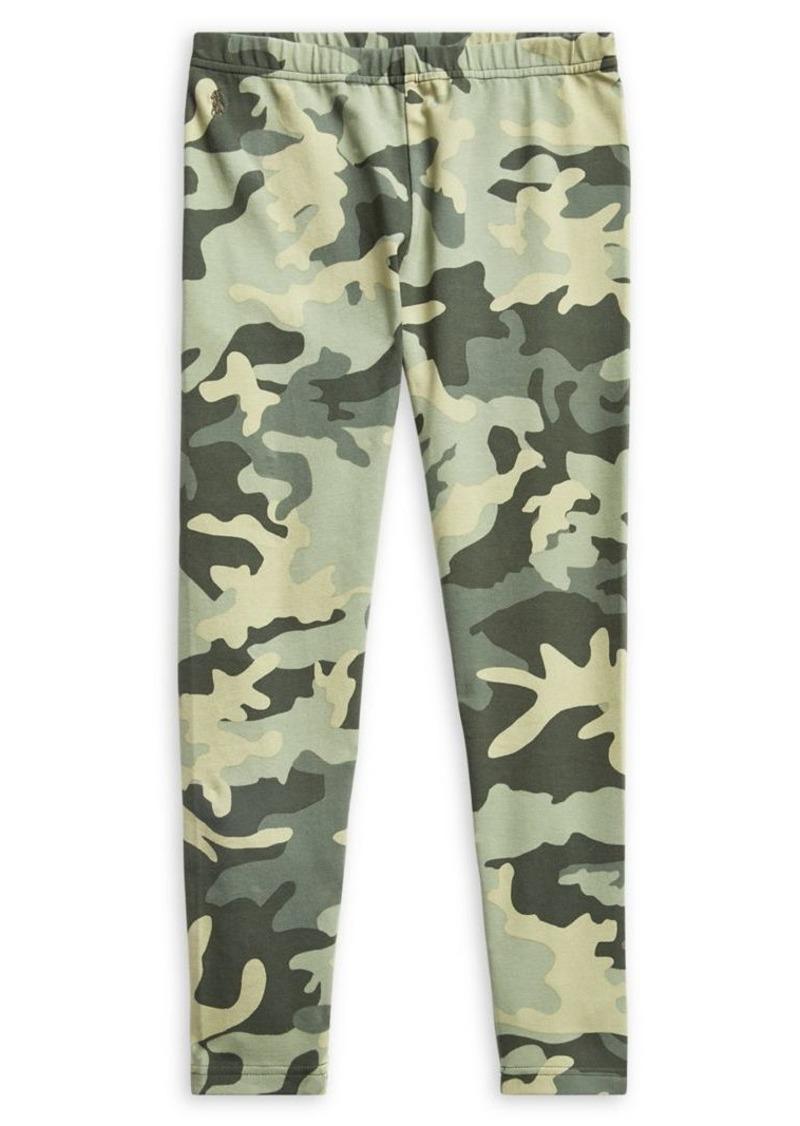 Ralph Lauren Childrenswear Girl's Camo Stretch Leggings