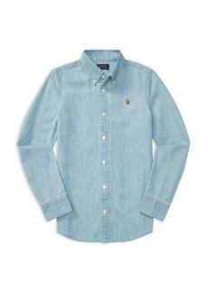 Ralph Lauren: Polo Polo Ralph Lauren Girls' Chambray Shirt - Big Kid