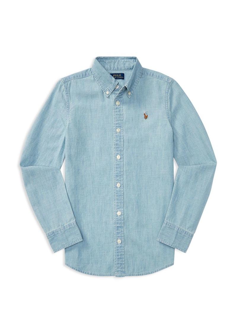 f1aac5f4413 Ralph Lauren  Polo Polo Ralph Lauren Girls  Chambray Shirt - Big Kid ...