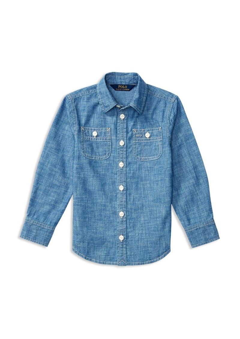 Ralph Lauren Childrenswear Girls' Chambray Shirt - Little Kid