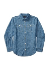 Ralph Lauren Childrenswear Girls' Chambray Shirt - Sizes 7-16
