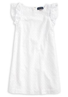 Ralph Lauren Childrenswear Girl's Cotton A-Line Dress