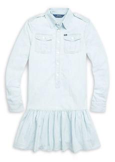 Ralph Lauren Childrenswear Girl's Cotton Chambray Dress