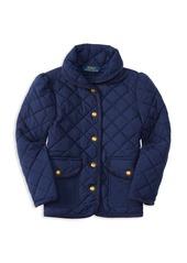 Ralph Lauren Childrenswear Girls' Diamond-Quilted Barn Jacket - Little Kid