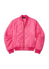 Ralph Lauren Childrenswear Girls' Diamond Quilted Baseball Jacket - Big Kid