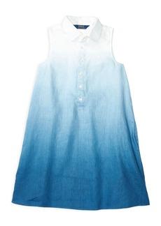 Ralph Lauren Childrenswear Girls' Dip Dye Dress - Big Kid