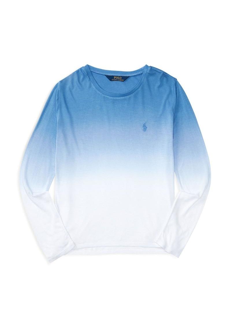 Ralph Lauren Childrenswear Girls' Dip Dye Tee - Sizes S-XL