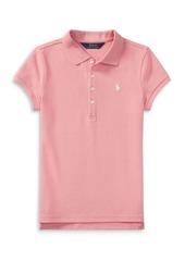 Ralph Lauren Childrenswear Girls Embroidered Cotton Polo