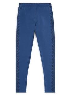 Ralph Lauren Childrenswear Girl's Embroidered Geometric Leggings