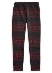 Ralph Lauren Childrenswear Girl's Fair Isle Jersey Leggings