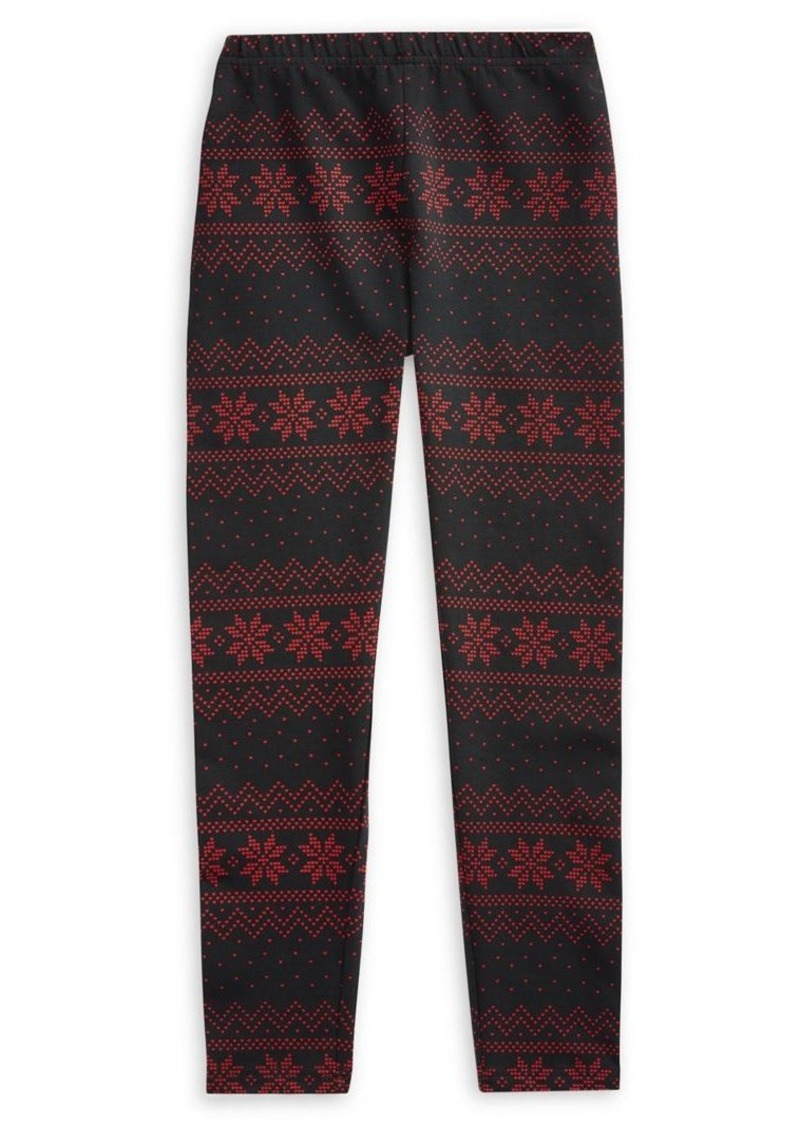 Ralph Lauren Childrenswear Girl's Fair Isle Jersey Leggings