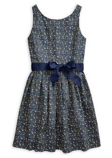 Ralph Lauren Childrenswear Girl's Floral Cotton Poplin Dress