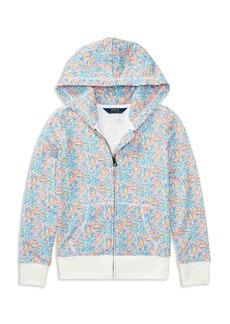 Ralph Lauren: Polo Polo Ralph Lauren Girls' Floral Fleece Zip-Up Sweater - Little Kid
