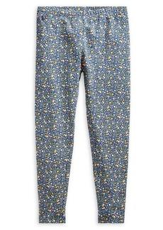 Ralph Lauren Childrenswear Girl's Floral Jersey Leggings
