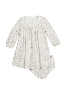 Ralph Lauren Childrenswear Girl's Floral-Print Shirred Dress w/ Matching Bloomers  Size 9-24M