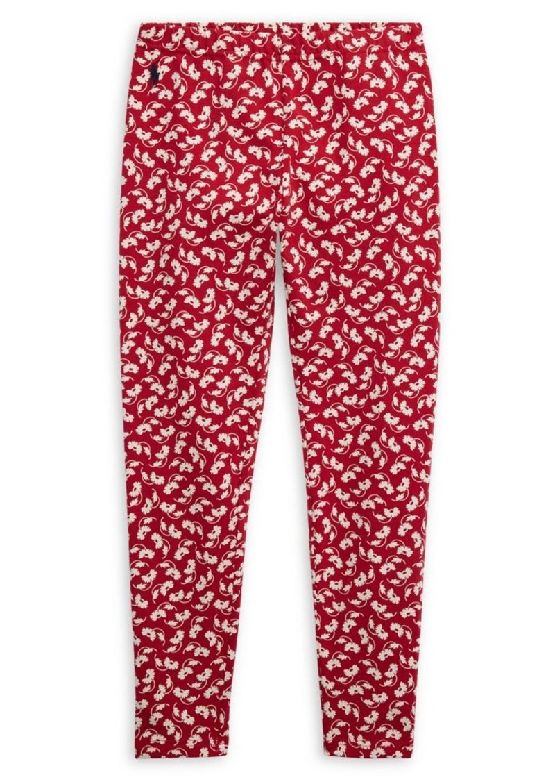 Ralph Lauren Childrenswear Girl's Floral Stretch Jersey Leggings