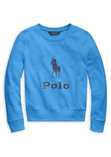 Ralph Lauren Childrenswear Girl's French Terry Pullover Sweatshirt