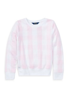 Ralph Lauren Childrenswear Girl's Gingham French Terry Pullover