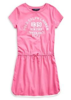 Ralph Lauren Childrenswear Girls' Graphic Cotton T-Shirt Dress