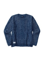 Ralph Lauren Childrenswear Girls' High Low Aran Sweater - Big Kid