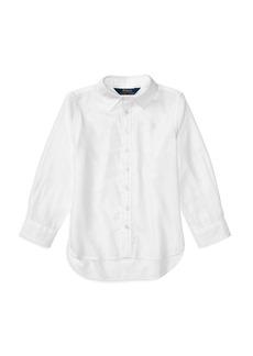 Ralph Lauren: Polo Polo Ralph Lauren Girls' High-Low Oxford Shirt - Little Kid